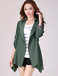 cheap -Women's Plus Size Casual Trench Coat