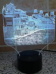 Fenghuang ville tactile gradation 3d led nuit lumière 7colorful décoration atmosphère lampe nouveauté éclairage lumière
