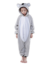 Kigurumi Pajamas Koala Onesie Pajamas Costume Polar Fleece Gray Cosplay For Kid Animal Sleepwear Cartoon Halloween Festival / Holiday