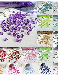 cheap -1000PCS 4.5mm 1/3ct Unique Wedding Party Decoration Confetti Table Scatters Decoration Acrylic Crystals Pieces