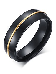 cheap -Men's Band Ring Black Stainless Steel Vintage Casual Fashion Party Daily Casual Costume Jewelry