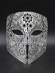 Medieval knight laser cutting hollow metal shield mask6002A4