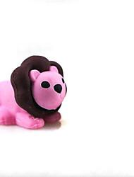 Gomme form de detachablelittle lion mignon gomme en forme (couleur aléatoire x 2 pcs)