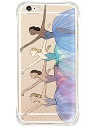Ballerinas TPU Soft Back Shockproof/Dustproof/Waterproof/Transparent  Case For i6s Plus/6 Plus/6s/6/SE/5S/5