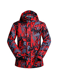 cheap -Wild Snow Men's Ski Jacket Waterproof Thermal / Warm Windproof Ski / Snowboard Winter Sports Polyester