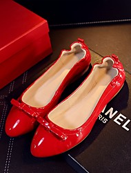 Women's Shoes PU / Patent Leather Spring / Fall Ballerina / Pointed Toe Flats Casual Flat Heel Bowknot