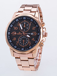 cheap -Men's Quartz Wrist Watch / Casual Watch Rose Gold Plated Alloy Band Casual Dress Watch Rose Gold