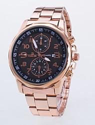 baratos -Homens Relógio de Pulso Relógio Casual / / Rosa Folheado a Ouro / Lega Banda Casual / Relógio Elegante Ouro Rose