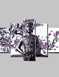 billige -Hånd-malede Mennesker enhver Shape Lærred Hang-Painted Oliemaleri Hjem Dekoration Fem Paneler
