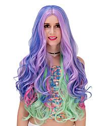 Недорогие -синий фиолетовый градиент длинный wig.wig лолита, Хэллоуин парик, парик цвета, моды парик, естественный парик, парик косплей.