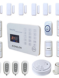 cheap -Wireless Burglar GSM Alarm Systems Security Home Safety Voice LCD SMS Alert Android App with Doorbell Smoke Detector