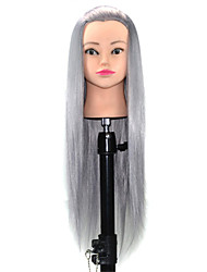 cheap -Mannequin Head Salon Hairdressing Cut Training Professional Mannequin Hairdressing 24 inch Wash Hat Haircut with Holder