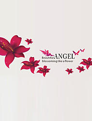 cheap -Beautiful Angel Blossoming Like a Flower Wall Stickers DIY Removable Living Room Wall Decals