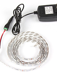 cheap -1m Flexible LED Light Strips 60 LEDs 5050 SMD Red / Blue Self-adhesive 110-240 V / IP44