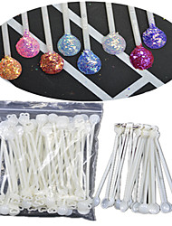 1 Pack Include 100 Roots Nail Art Spoons Tools With 4 Rings Manicure Appliance NJ175