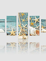 cheap -JAMMORY Canvas Set Landscape Modern,Five Panels Gallery Wrapped, Ready To Hang Vertical Print No Frame Fishing Tackle