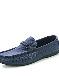 cheap -Men's Loafers & Slip-Ons Spring / Summer / Fall Round Toe PU Outdoor / Casual Low Heel  Black