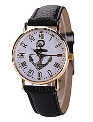 Mulheres Relógio de Moda Quartzo Relógio Casual Couro Banda Preta Branco Vermelho Azul Escuro Roxo Fúcsia Marron Vermelho
