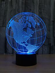map of america touch dimming 3d led night light 7colorful decorazione atmosfera lampada novità illuminazione luce