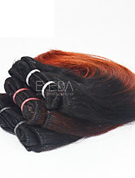 New 3pcs/set Ombre Human Virgin Short Hair Weave Wet Wavy Ombre 2 tone Color #1B/35 8inch 6 colors availabe