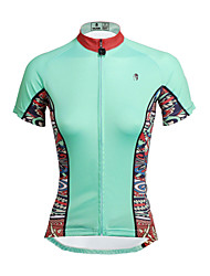 cheap -ILPALADINO Cycling Jersey Women's Short Sleeves Bike Top Quick Dry Ultraviolet Resistant Breathable Soft Compression Lightweight