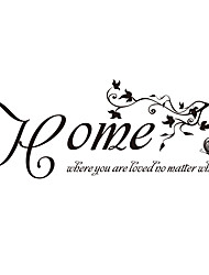 cheap -Home Where You Are Loved Quote Sticker Butterfly and VIne Decals