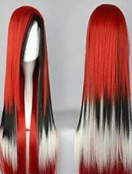 cheap -100 cm Long Harajuku Gradient Cosplay Wigs Young Long Straight Synthetic Hair Wig  Costume Party Wig For Women 4 Colors