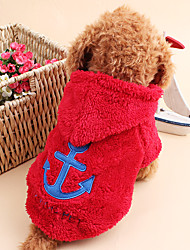 cheap -Cat Dog Hoodie Dog Clothes Cute Keep Warm Sailor White Gray Rose Red Blue Costume For Pets