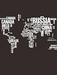 cheap -Hot PVC Wall Stickers Letter World Map Quote Removable Vinyl Decal Mural Home Decor Stickers