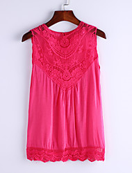 Women's European Lace Stitching Vest