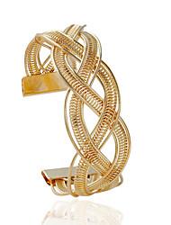 Недорогие -Браслеты Браслет разомкнутое кольцо Сплав В форме трубки Мода Бижутерия Подарок Золотой / Серебряный,1шт