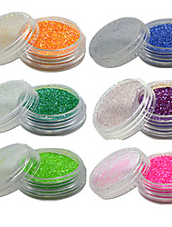 cheap -1 Set Nail Art Beautiful Noctilucent Powder Colorful Color Glitter Shining Nail Beauty Decoration YG07-12