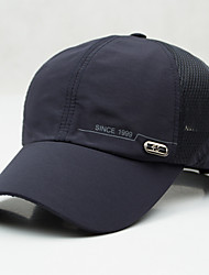 cheap -Men's Cotton Baseball Cap,Casual Solid Spring Summer Fall Black Beige Navy Blue Dark Gray Light gray