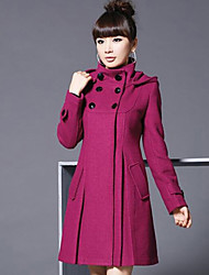 cheap -Women's Vintage Coat-Solid Colored