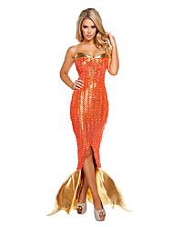economico -Coda da Sirena Costumi Cosplay Vestito da Serata Elegante Donna Natale Halloween Carnevale Capodanno Feste / vacanze Costumi Halloween
