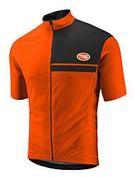 TVSSS Cycling Jersey Men's Short Sleeve Bike Tops Terylene Coolmax LYCRA® Classic British Summer Cycling/Bike Orange Mineral Green