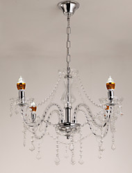 Classic Transparent Crystal Candle Chandelier