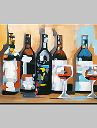 Large Hand Painted Abstract Wine Bottle Oil Painting On Canvas Wall Art With Stretched Frame Ready To Hang