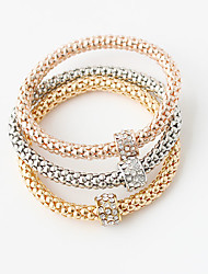 Bracelet Wrap Bracelet Alloy Round Double-layer Wedding / Party Jewelry Gift Gold,1set