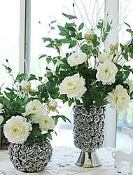 Недорогие -1 1 Филиал Шелк Пионы Букеты на стол Искусственные Цветы 90CM
