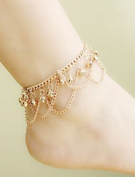 Women's Anklet/Bracelet Gold Plated Alloy Unique Design Tassels Bohemian Fashion Jewelry Golden Women's Jewelry Daily Casual 1pc