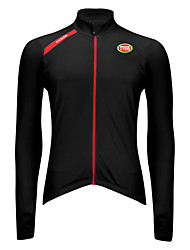 Sports Bike/Cycling Tops Men's Long Sleeve Breathable / Wearable / Ultra Light Fabric / Thermal / Terylene ClassicBlack