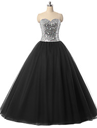 Ball Gown Sweetheart Floor Length Tulle Formal Evening Dress with Crystal Detailing Sequins by TS Couture®