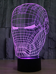 hombre toque atenuación 3d llevó la luz de la noche 7colorful decoración atmósfera lámpara novedad luz de iluminación
