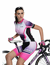 SANTIC Cycling Jersey with Shorts Women's Short Sleeves Bike Shorts Jersey Clothing Suits Quick Dry Breathable Polyester Fashion Floral /