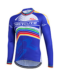 cheap -Fastcute Cycling Jersey Men's Women's Kid's Unisex Long Sleeves Bike Sweatshirt Jersey Top Quick Dry Front Zipper Breathable Soft