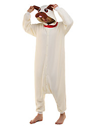 preiswerte -Kigurumi-Pyjamas Mops Pyjamas-Einteiler Kostüm Polar-Fleece Beige Cosplay Für Erwachsene Tiernachtwäsche Karikatur Halloween Fest /