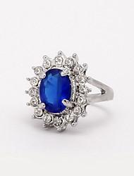 preiswerte -Damen Zirkon / Aleación Statement-Ring - Modisch Blau Ring Für Hochzeit / Party