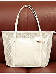 Women Bags PVC Shoulder Bag Tote with for Casual Outdoor White Yellow Brown Blushing Pink