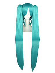 cheap -Cosplay Wigs Vocaloid Mikuo Anime Cosplay Wigs 120 CM Heat Resistant Fiber Men's Women's